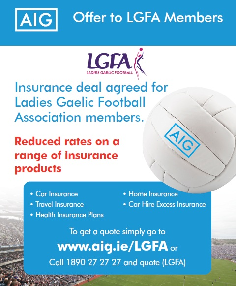 Aig Quote Magnificent Aig Insurance Offers  Ladies Gaelic Football