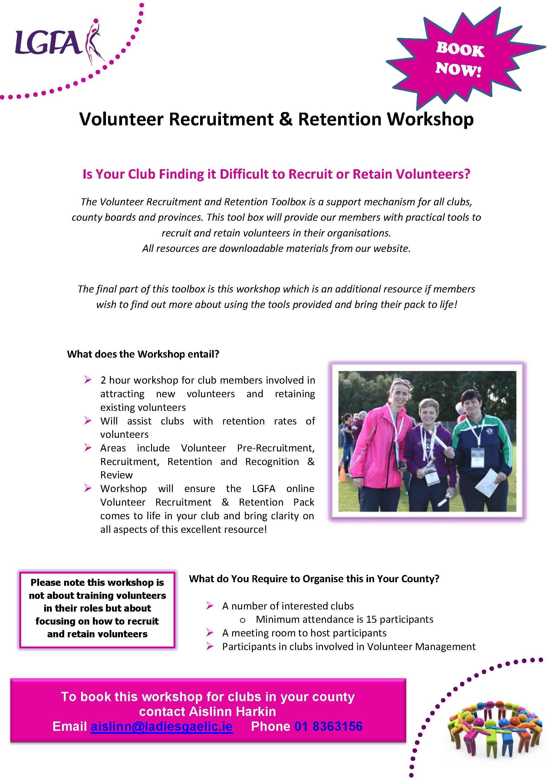 Volunteer Workshop Flyer