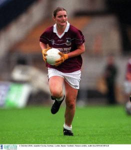 1 October 2000; Annette Clarke, Galway. Ladies Junior Football. Picture credit; Aoife Rice/SPORTSFILE