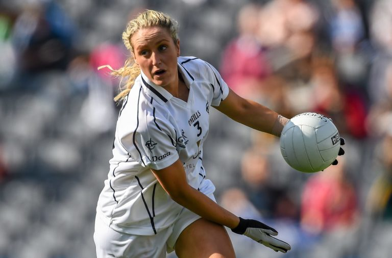 27 September 2015; Aisling Savage, Kildare. TG4 Ladies Football All-Ireland Intermediate Championship Final, Kildare v Waterford, Croke Park, Dublin. Picture credit: Ramsey Cardy / SPORTSFILE *** NO REPRODUCTION FEE ***